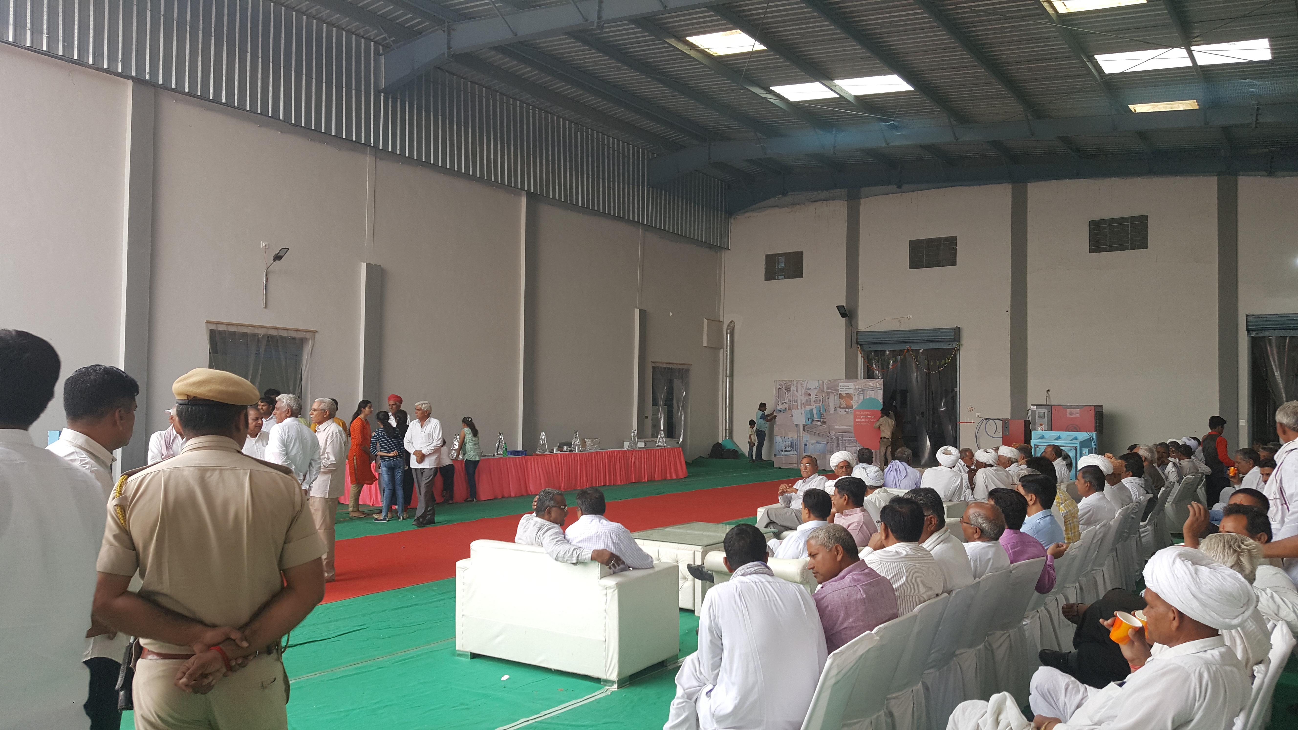 Inauguration Ceremony Of Moong Dal Plant at Bikaner.