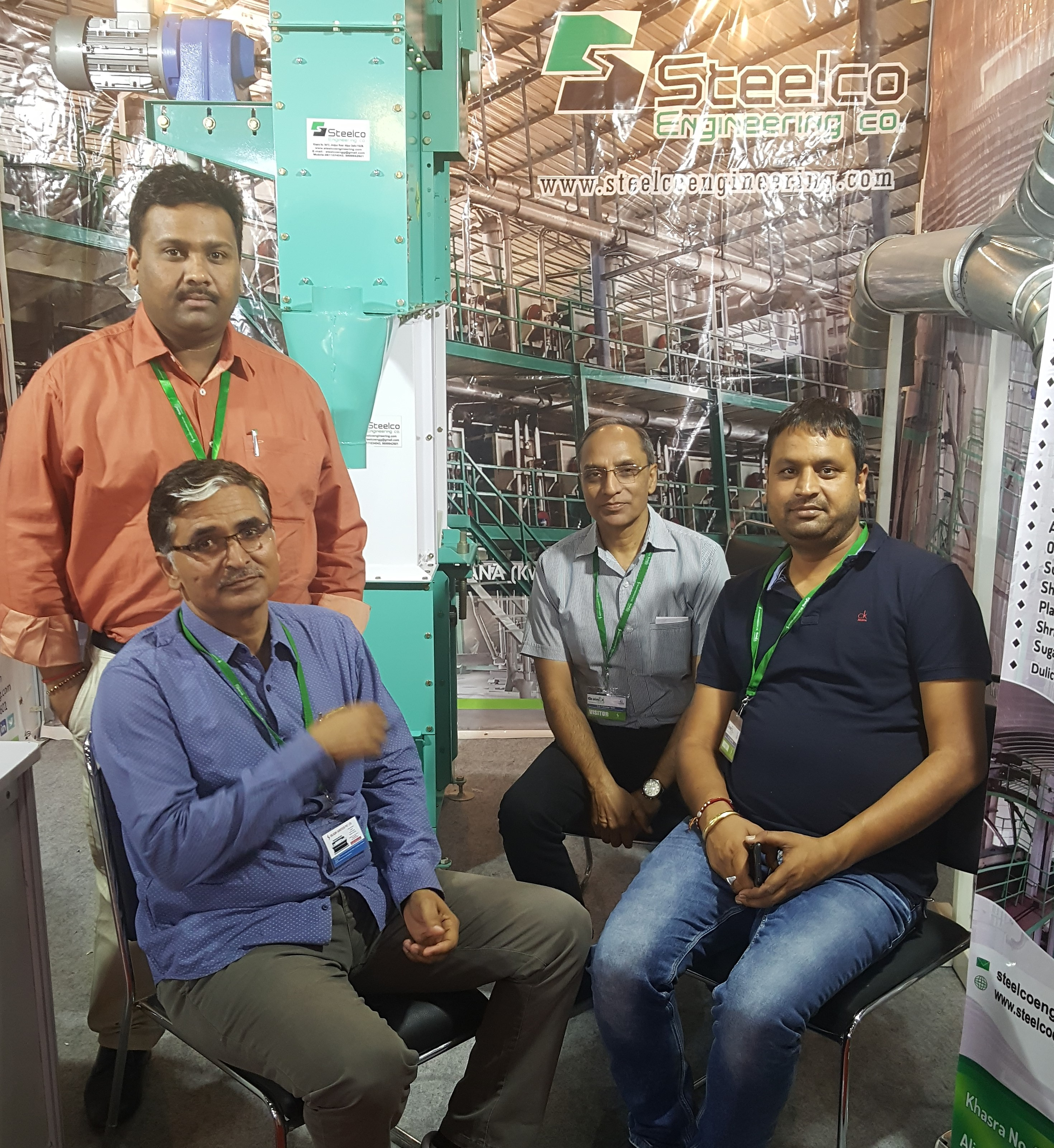 Customer visit to our Stall.